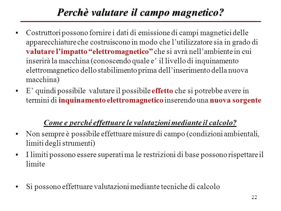 Perchè valutare il campo magnetico