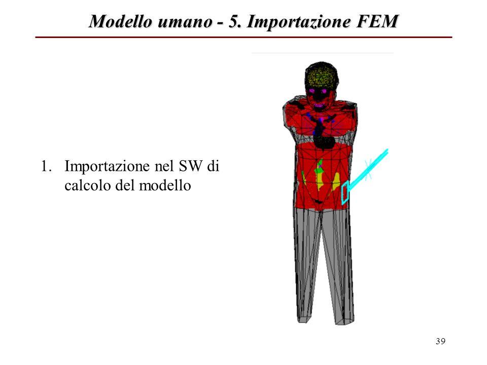 Modello umano - 5. Importazione FEM
