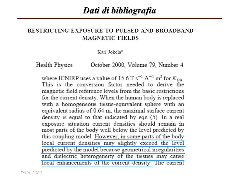 Dati di bibliografia Data, 2009 57