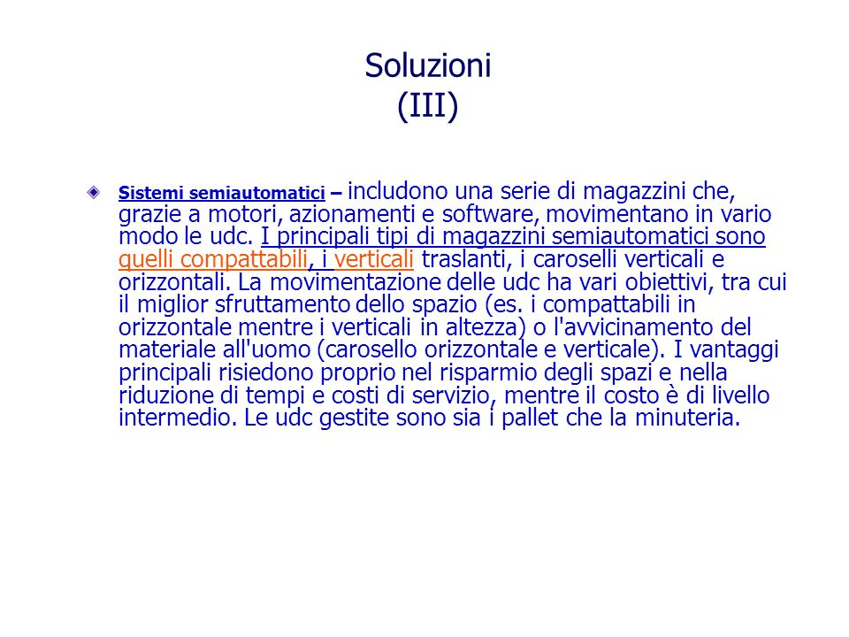 Soluzioni (III)