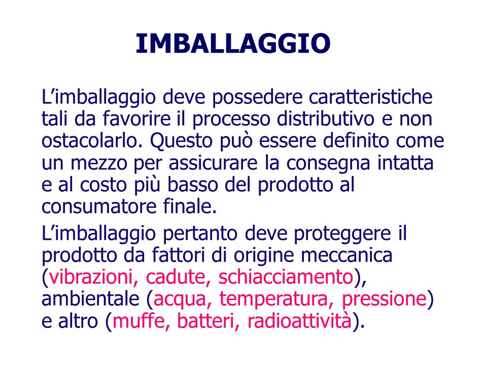 IMBALLAGGIO