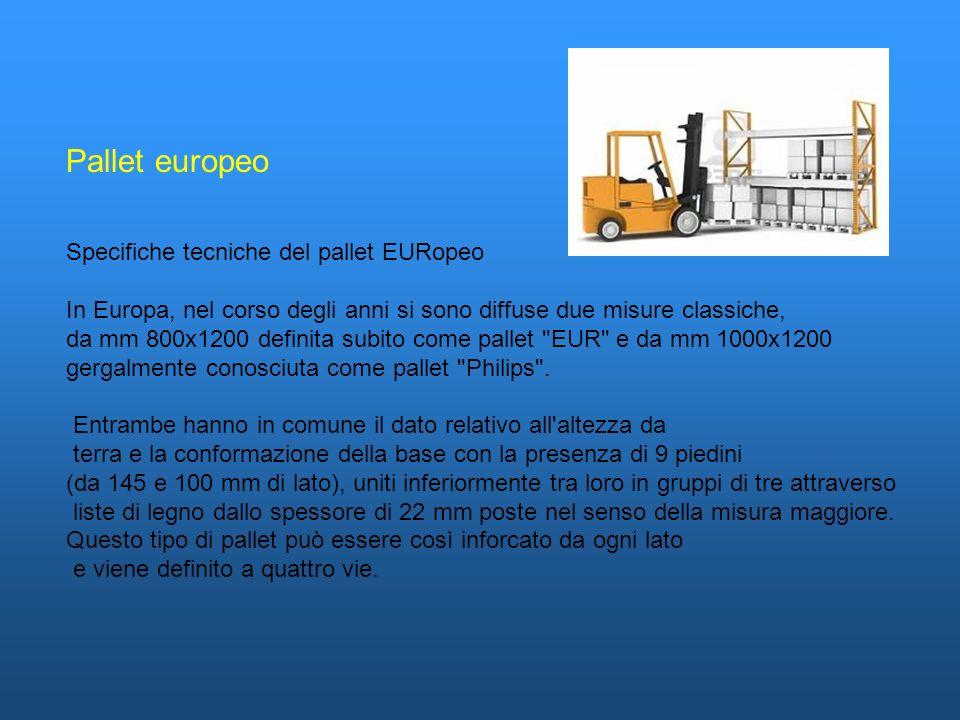 Pallet europeo Specifiche tecniche del pallet EURopeo