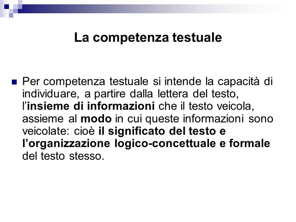 La competenza testuale