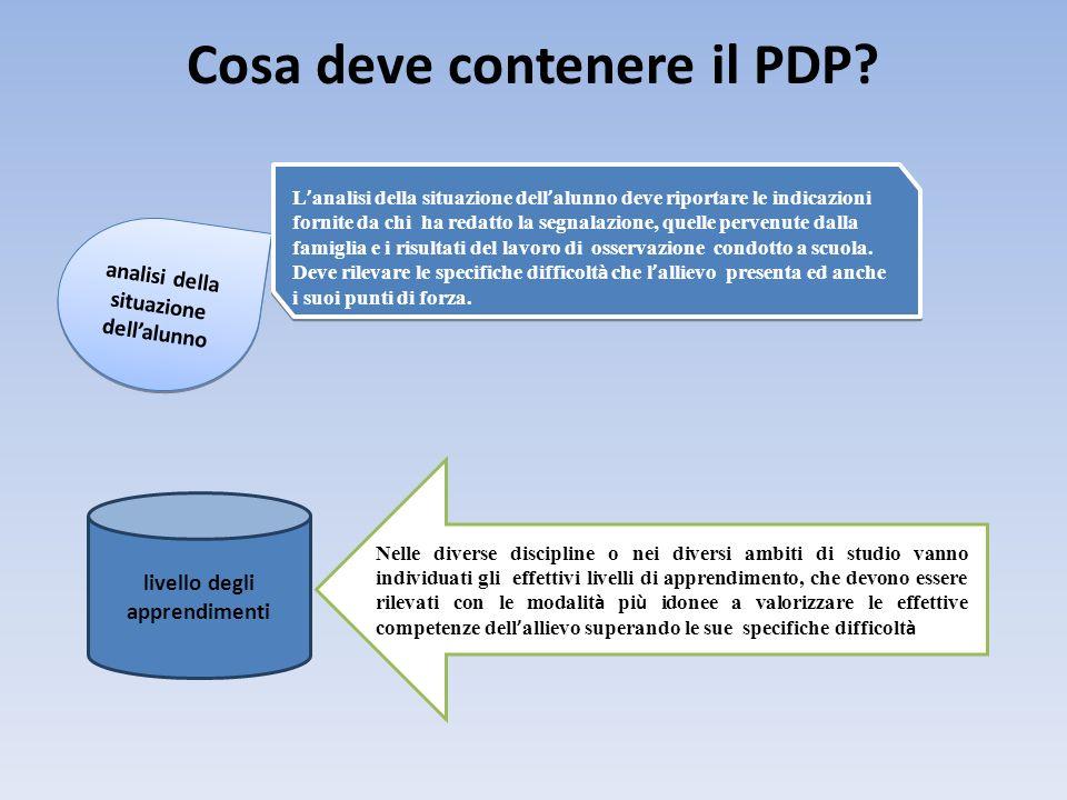 Cosa deve contenere il PDP
