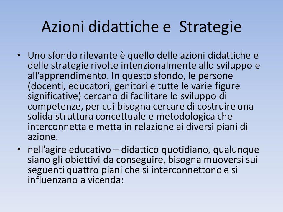 Azioni didattiche e Strategie