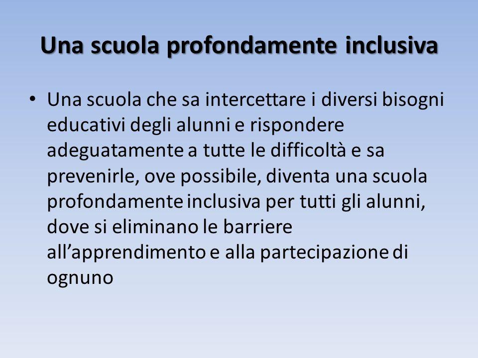 Una scuola profondamente inclusiva