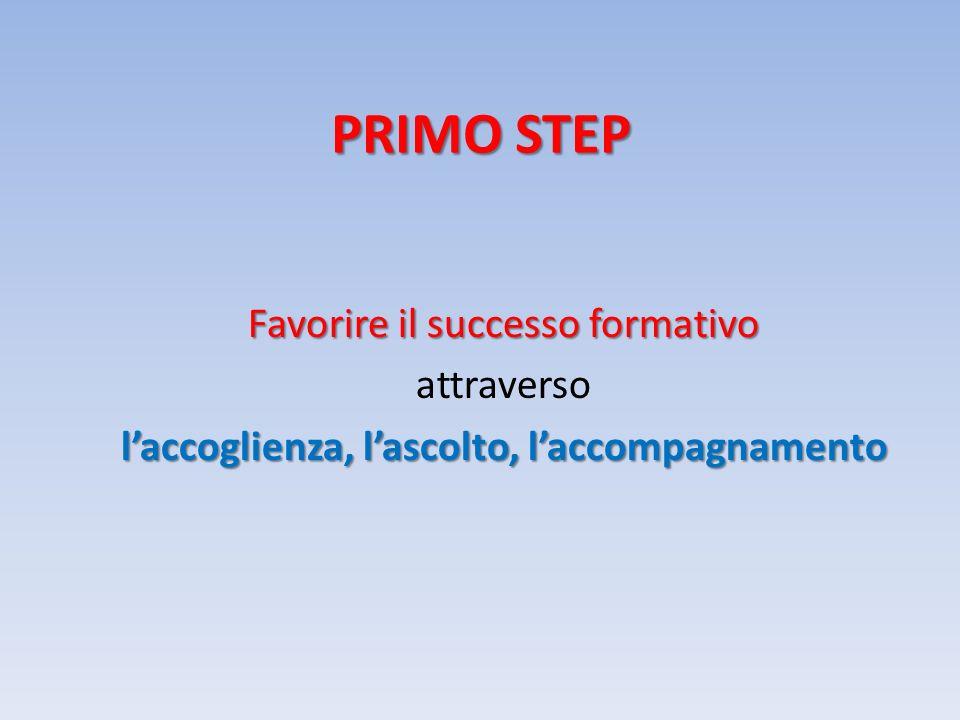 PRIMO STEP Favorire il successo formativo attraverso l'accoglienza, l'ascolto, l'accompagnamento