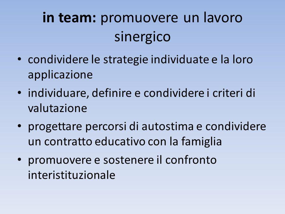 in team: promuovere un lavoro sinergico