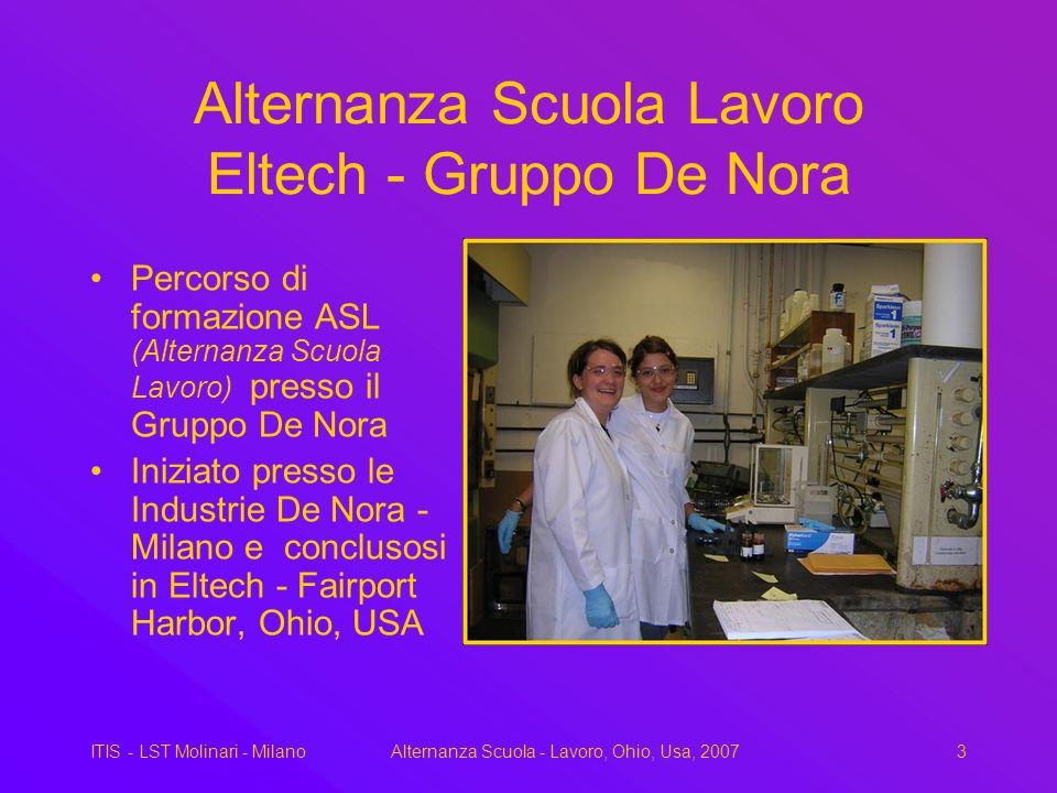Alternanza Scuola Lavoro Eltech - Gruppo De Nora