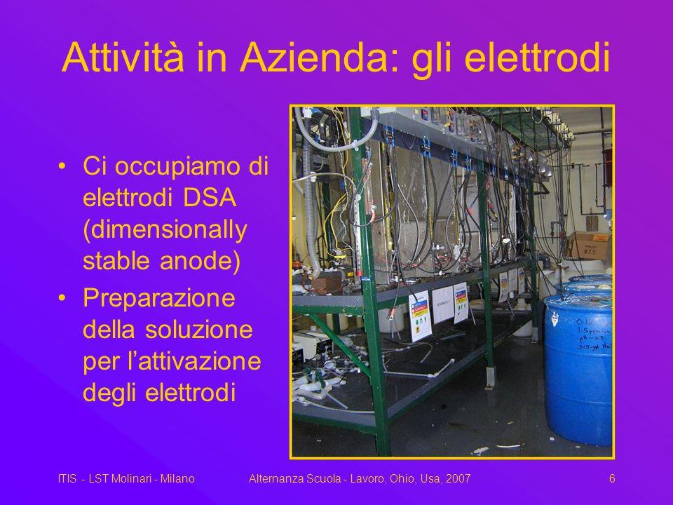 Attività in Azienda: gli elettrodi