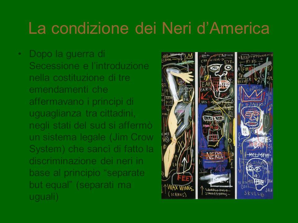 La condizione dei Neri d'America
