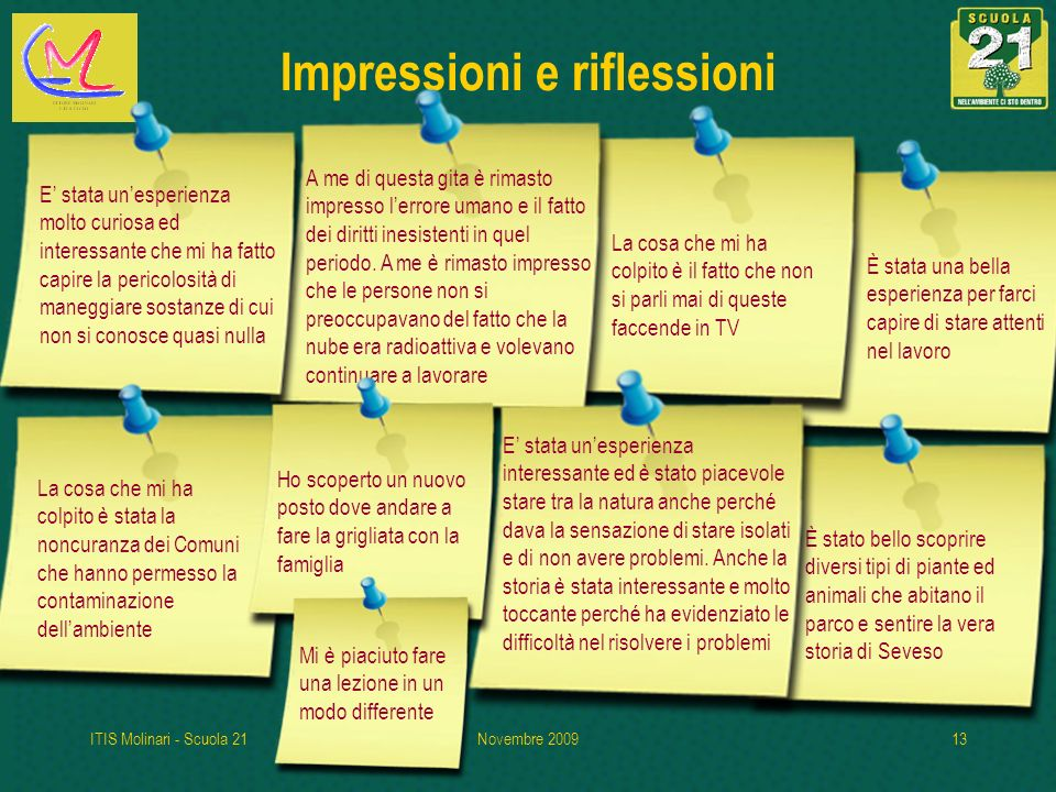 Impressioni e riflessioni