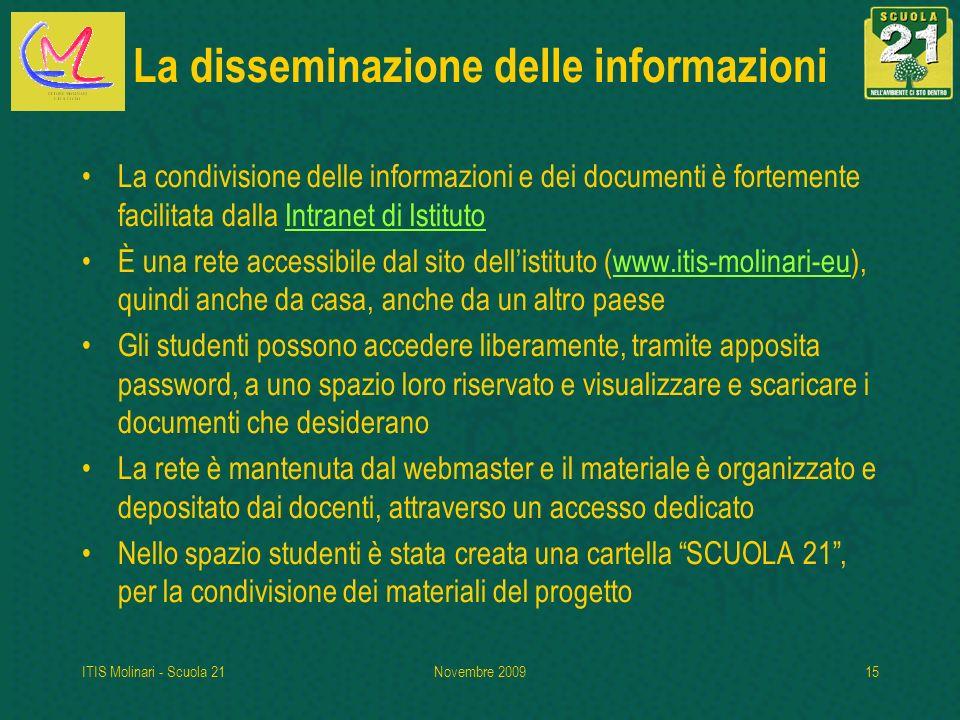 La disseminazione delle informazioni