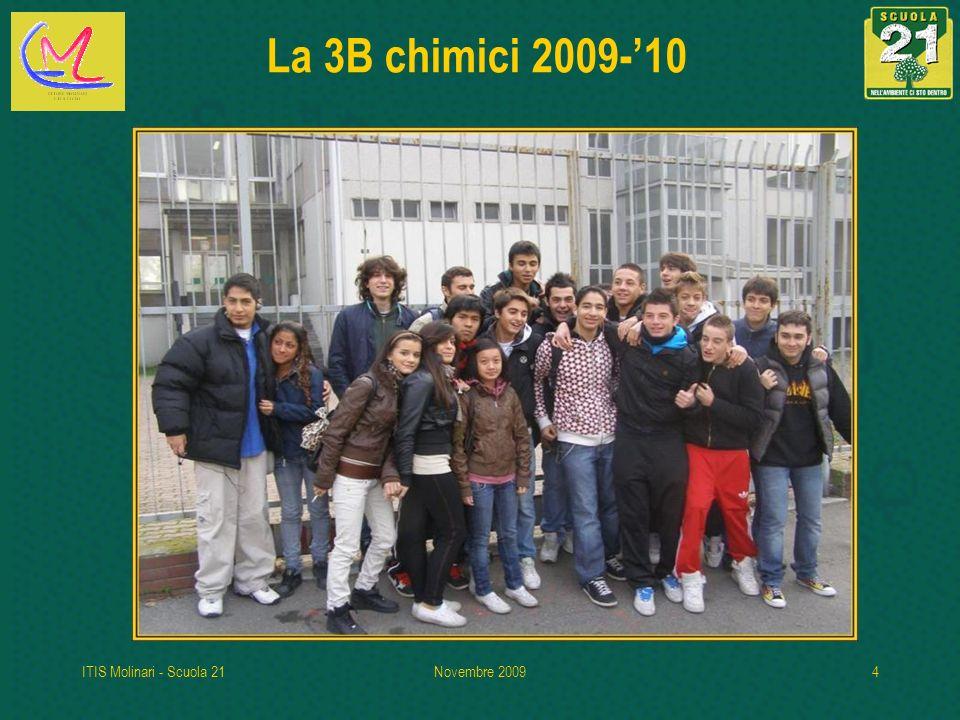 La 3B chimici 2009-'10 ITIS Molinari - Scuola 21 Novembre 2009