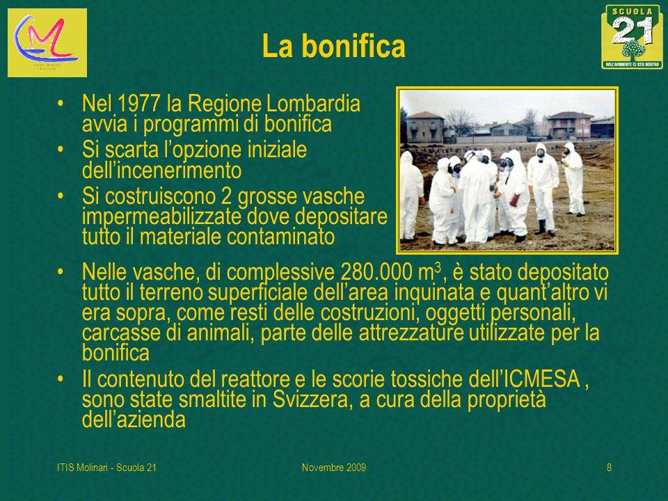 La bonifica Nel 1977 la Regione Lombardia avvia i programmi di bonifica. Si scarta l'opzione iniziale dell'incenerimento.