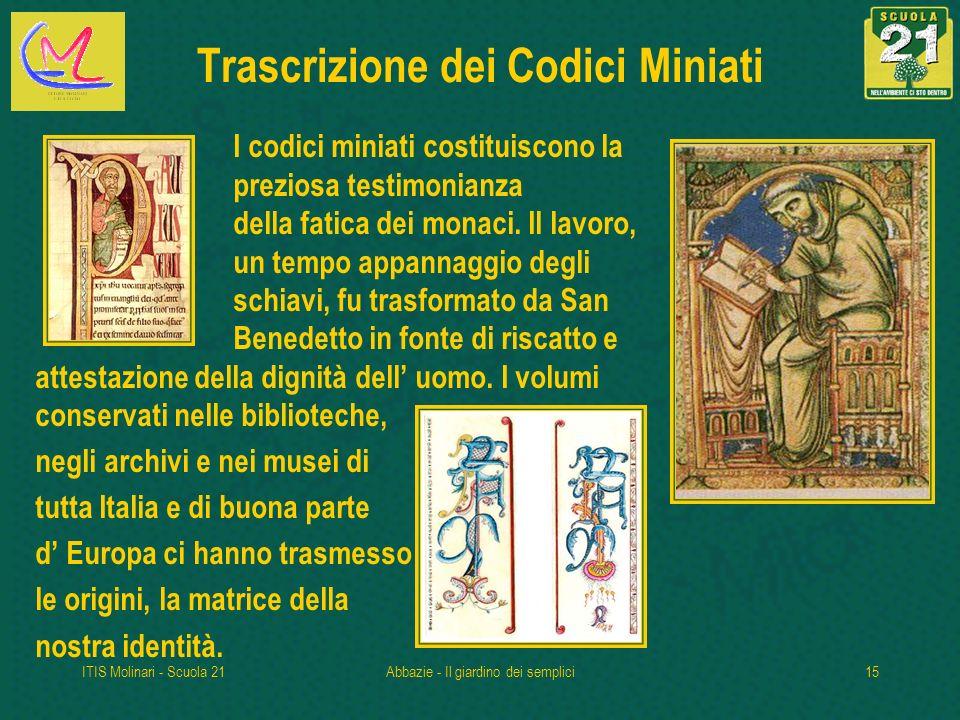 Trascrizione dei Codici Miniati