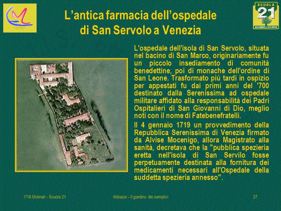 L'antica farmacia dell'ospedale di San Servolo a Venezia