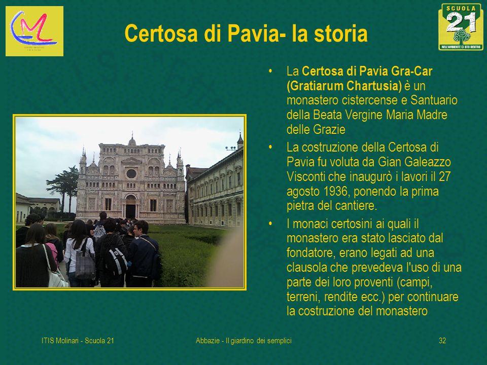Certosa di Pavia- la storia