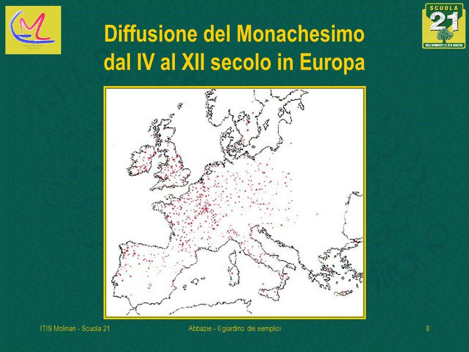Diffusione del Monachesimo dal IV al XII secolo in Europa
