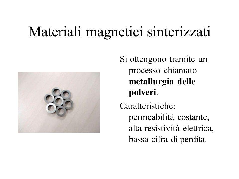 Materiali magnetici sinterizzati