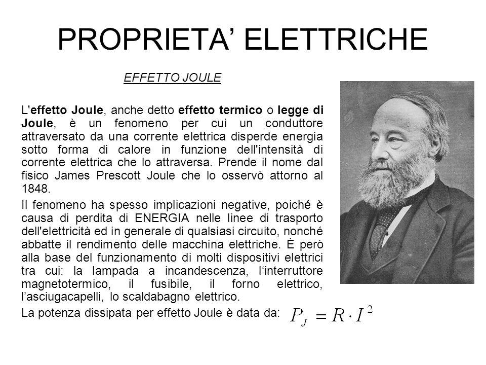 PROPRIETA' ELETTRICHE