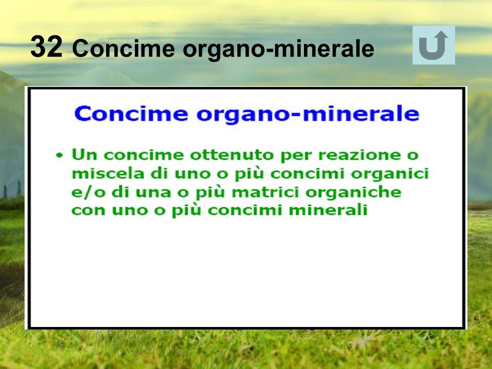 32 Concime organo-minerale