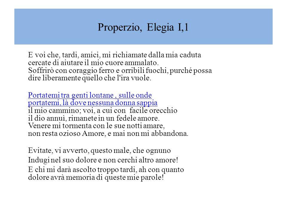 Properzio, Elegia I,1
