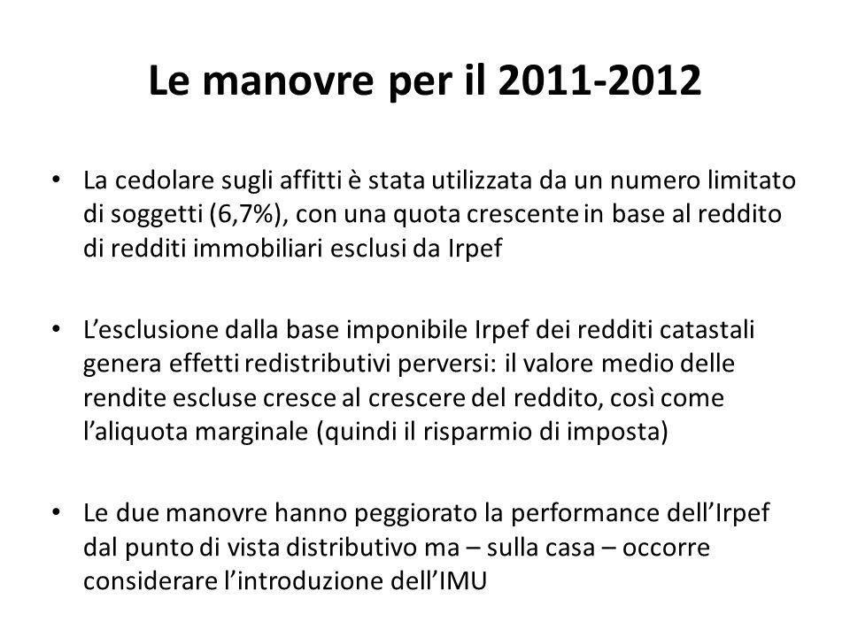Le manovre per il 2011-2012
