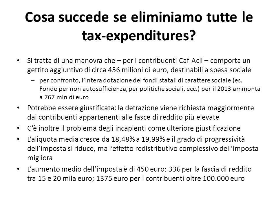 Cosa succede se eliminiamo tutte le tax-expenditures