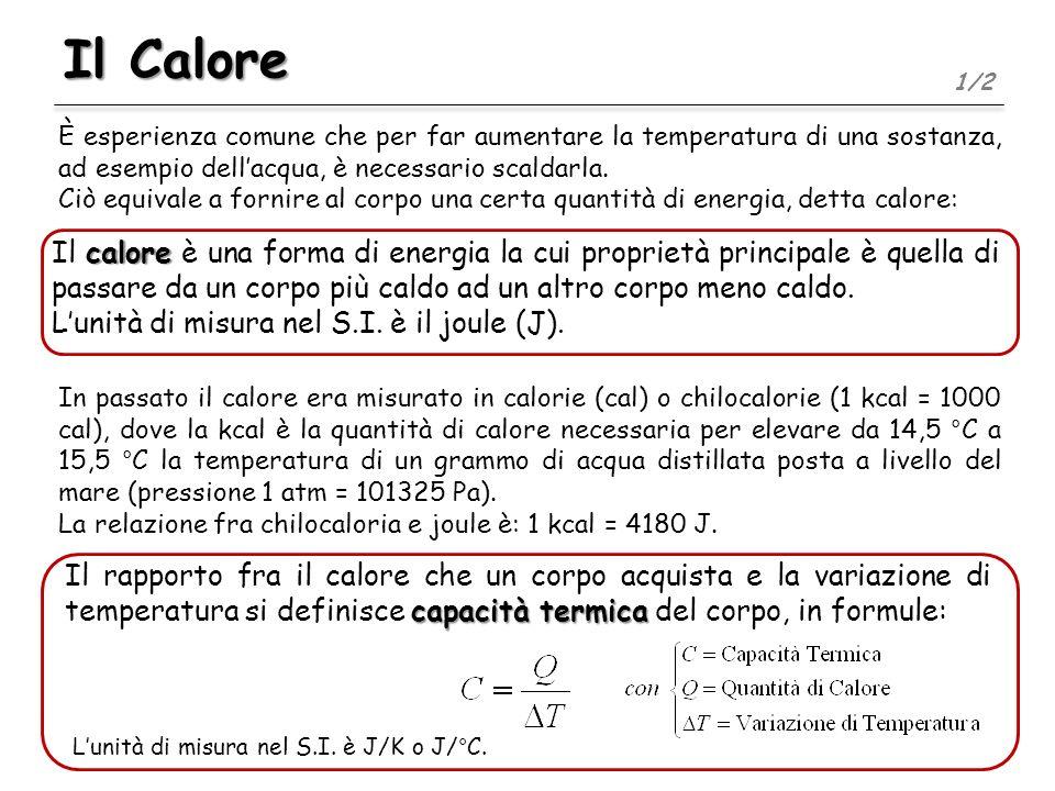 Il Calore1/2. È esperienza comune che per far aumentare la temperatura di una sostanza, ad esempio dell'acqua, è necessario scaldarla.