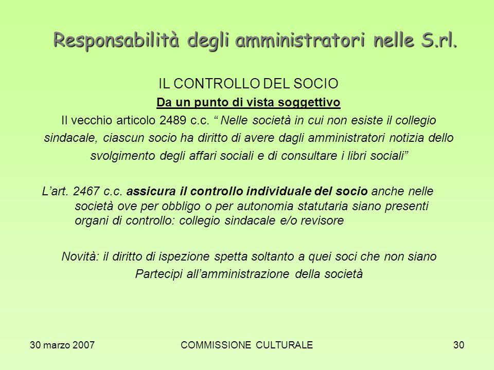 Responsabilità degli amministratori nelle S.rl.