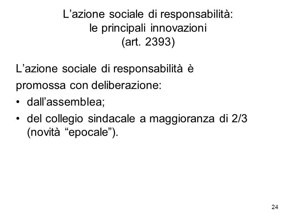 L'azione sociale di responsabilità: le principali innovazioni (art