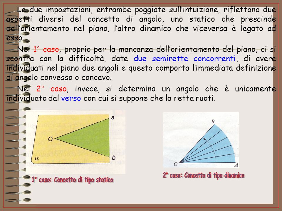 2° caso: Concetto di tipo dinamico 1° caso: Concetto di tipo statico