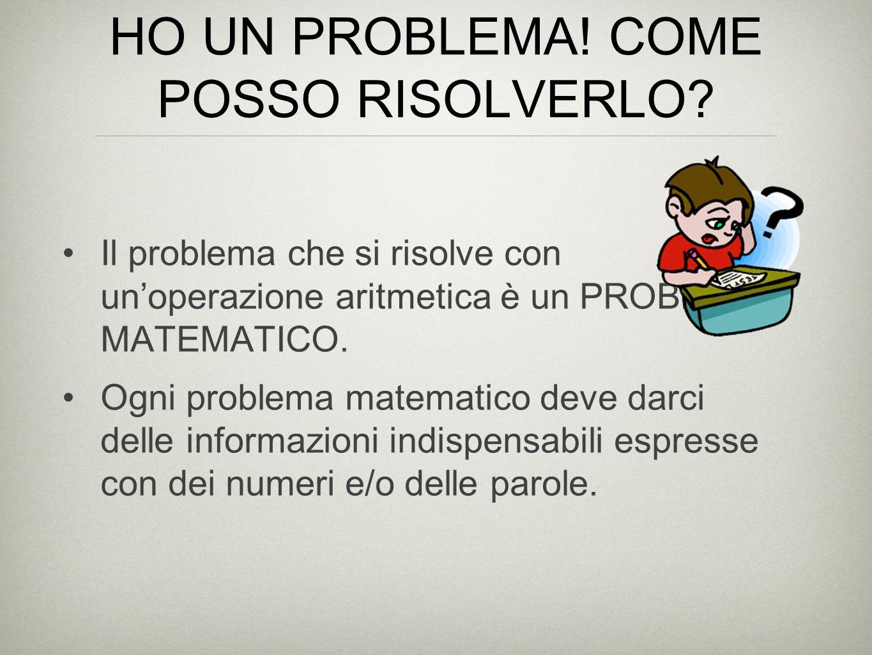 HO UN PROBLEMA! COME POSSO RISOLVERLO