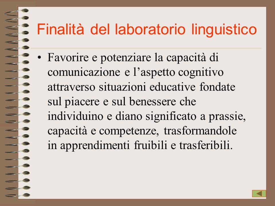 Finalità del laboratorio linguistico