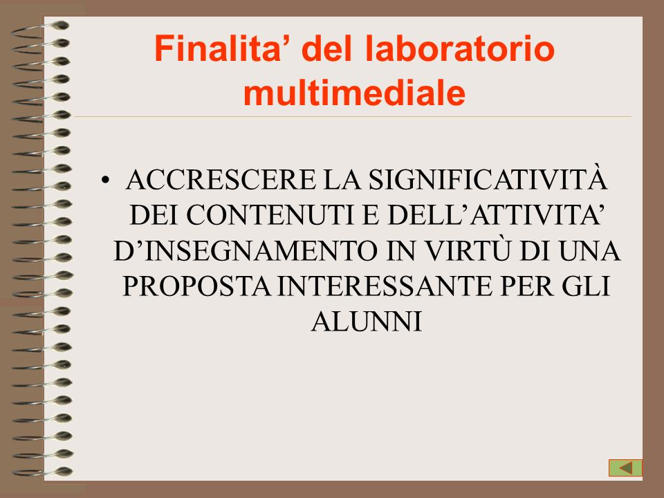 Finalita' del laboratorio multimediale