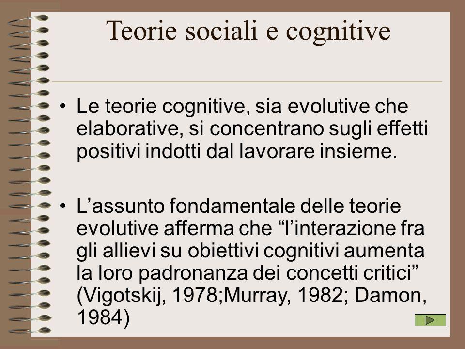 Teorie sociali e cognitive