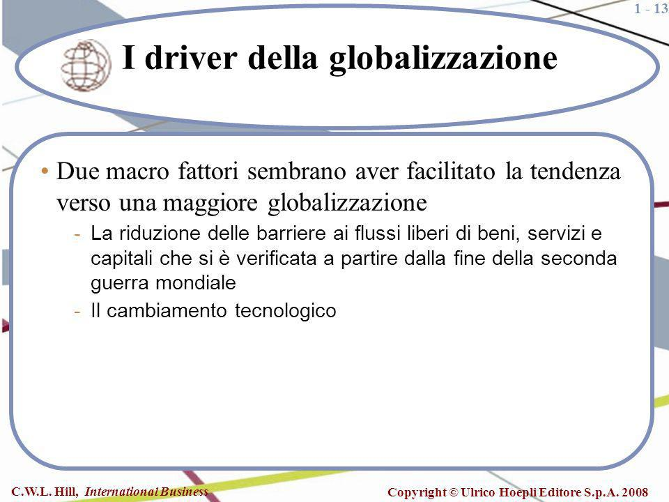 I driver della globalizzazione