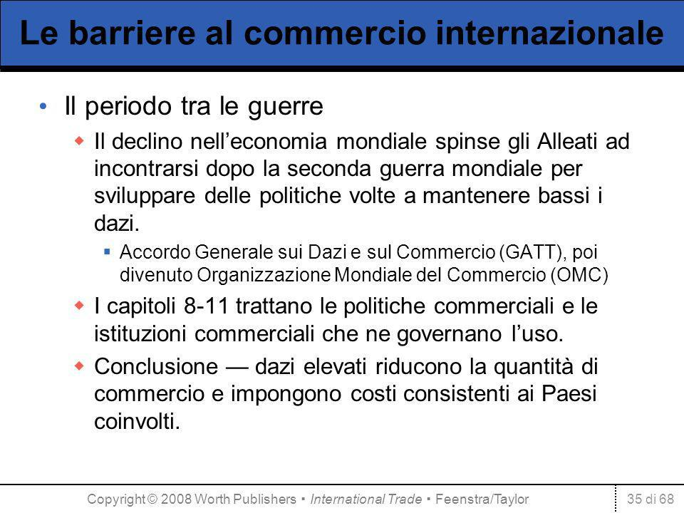 Le barriere al commercio internazionale