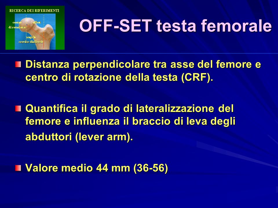 OFF-SET testa femorale