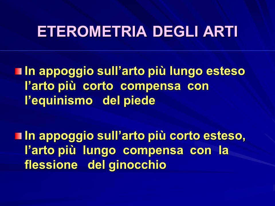 ETEROMETRIA DEGLI ARTI