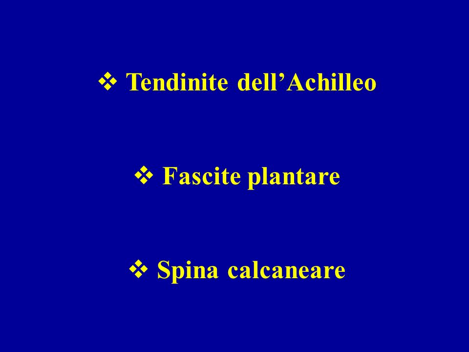 Tendinite dell'Achilleo