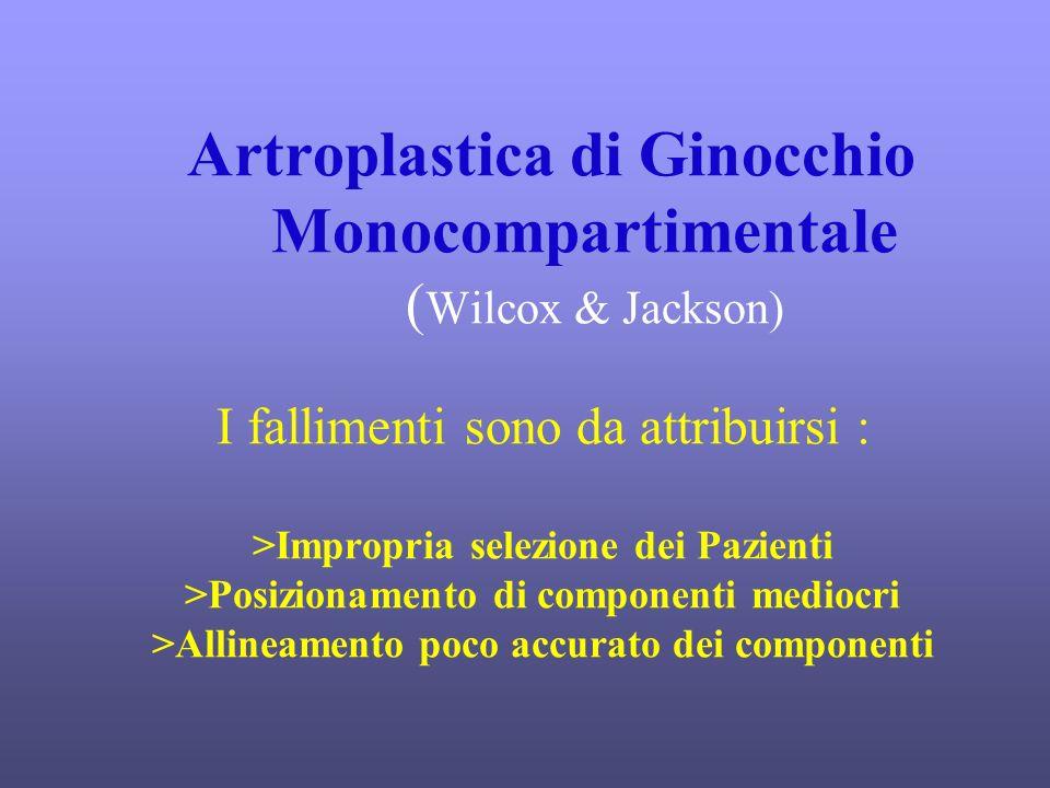 Artroplastica di Ginocchio. Monocompartimentale