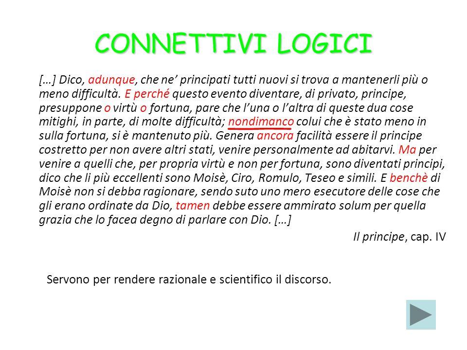 CONNETTIVI LOGICI