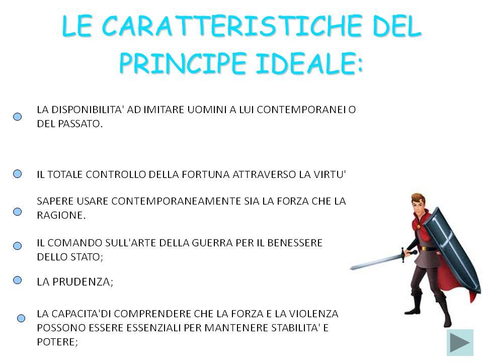 LE CARATTERISTICHE DEL PRINCIPE IDEALE: