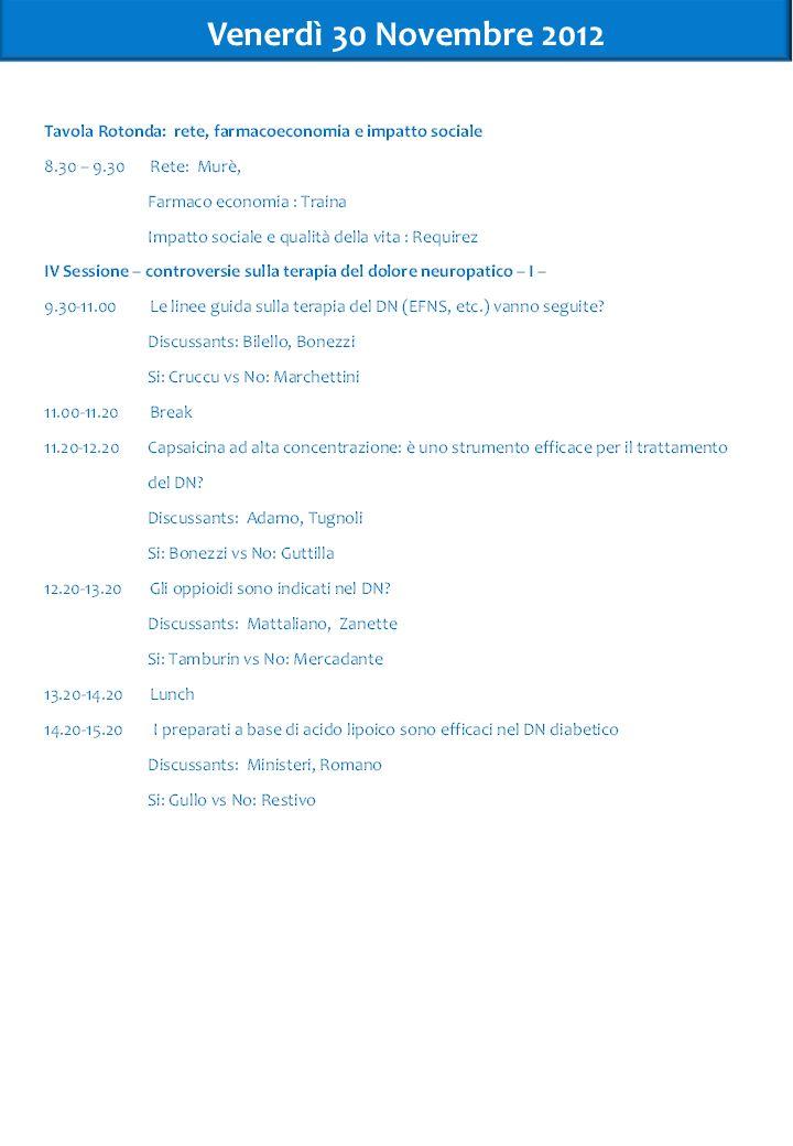 Venerdì 30 Novembre 2012 5