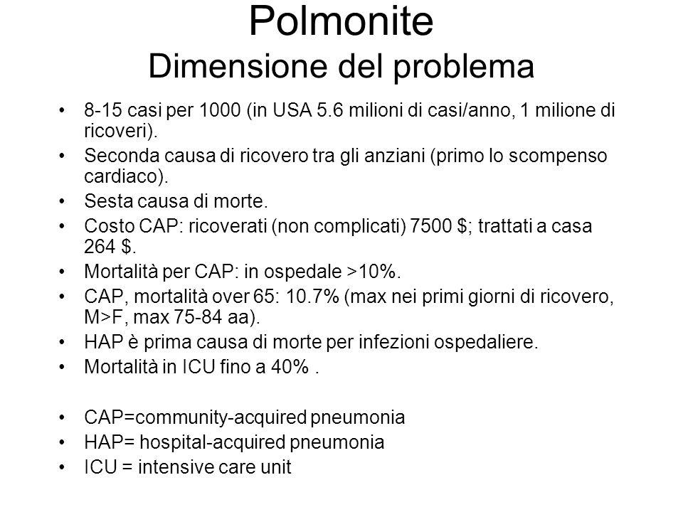 Polmonite Dimensione del problema