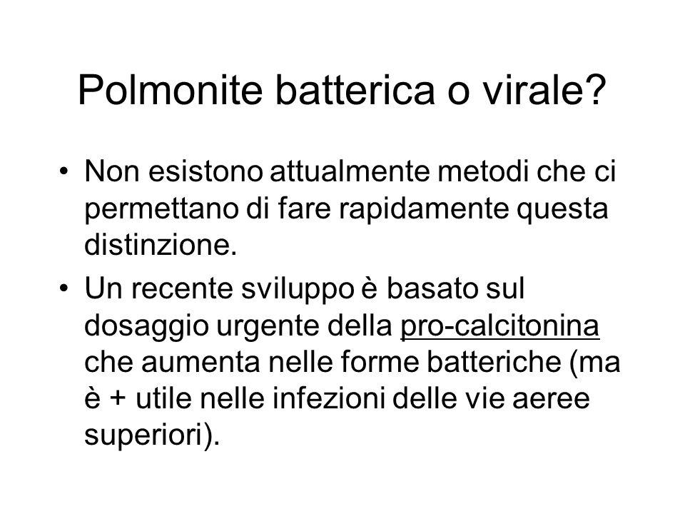 Polmonite batterica o virale