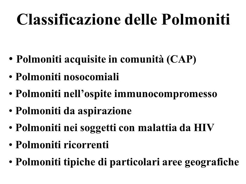 Classificazione delle Polmoniti