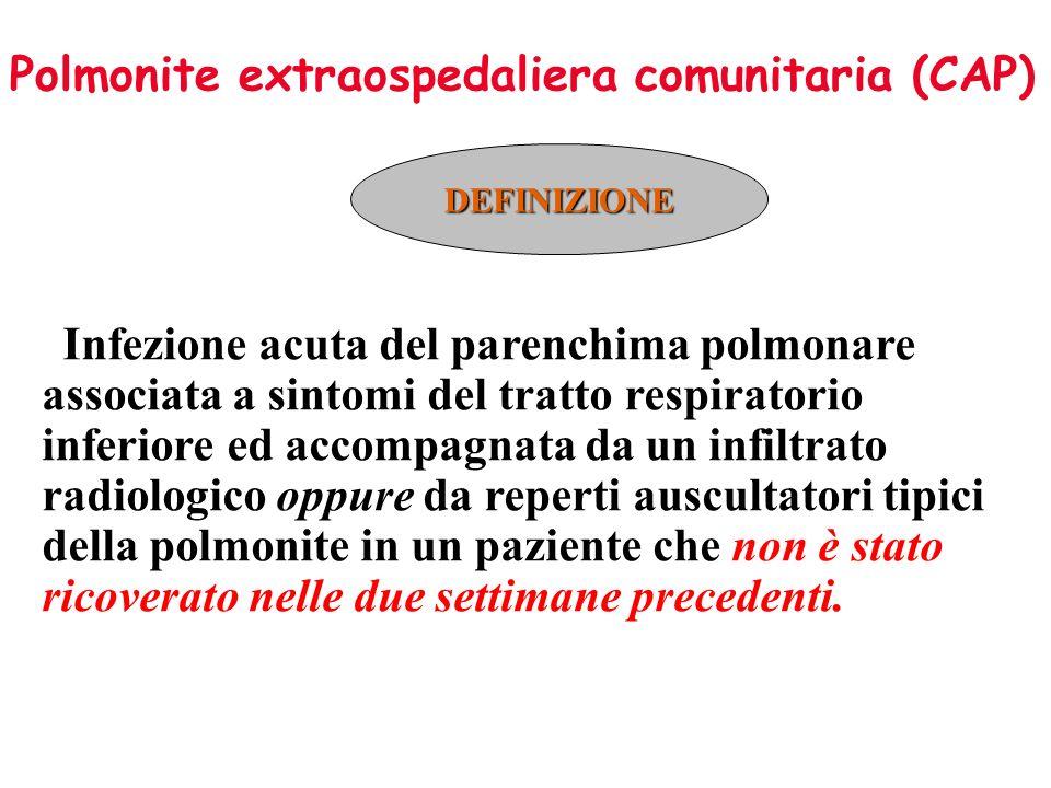 Polmonite extraospedaliera comunitaria (CAP)